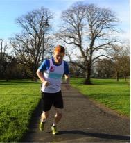 Matt running for refugees
