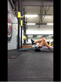 Hip flexion with traction