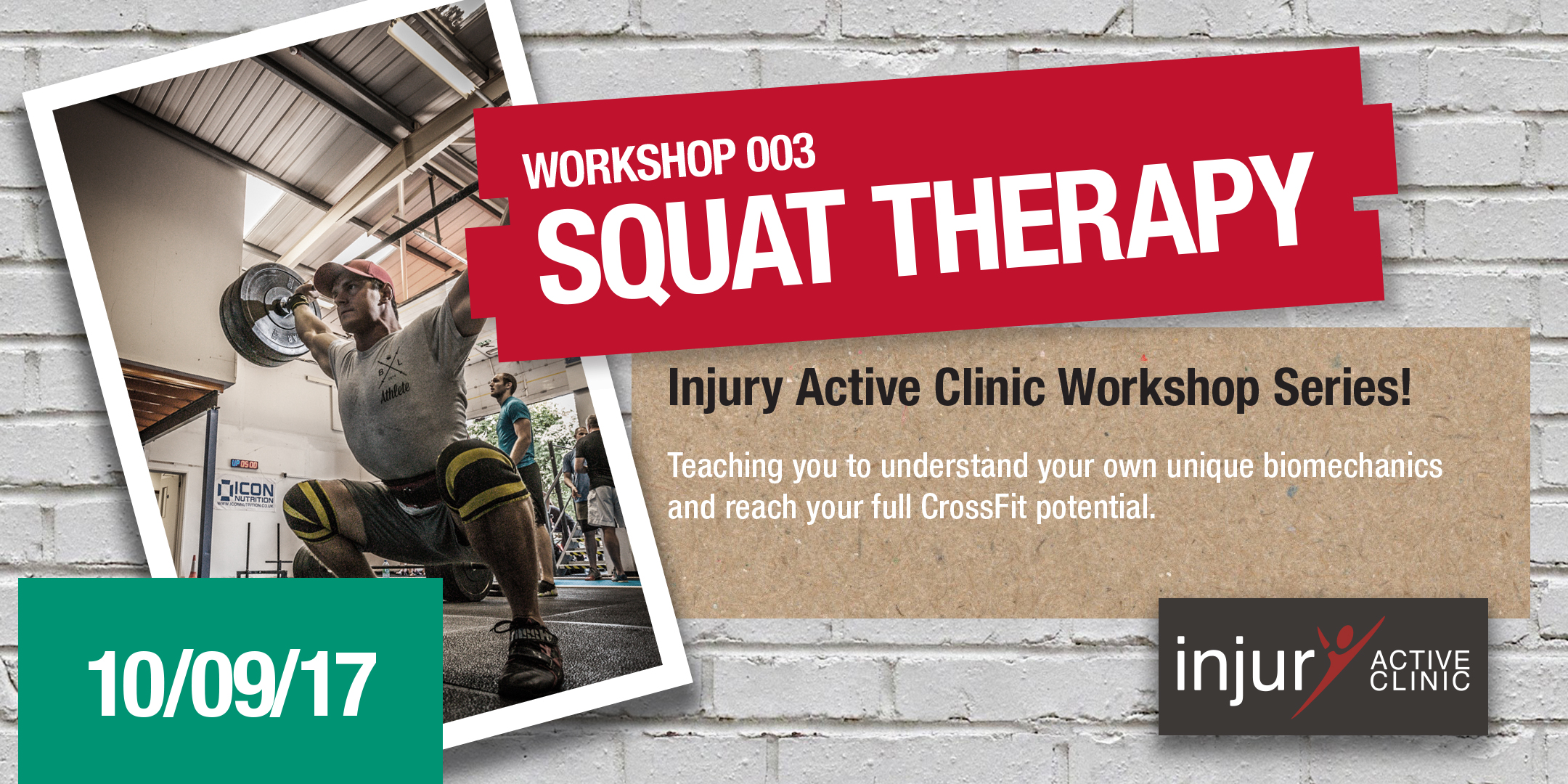 Injury Active Clinic Workshop 002 'Squat Therapy'